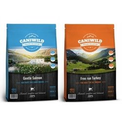 Zestaw Caniwild Adult & Sterilised Cat Gentle Salmon 2kg + Free run Turkey 2kg