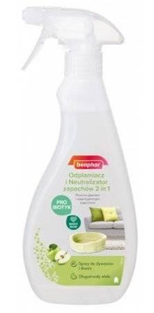 Odplamiacz i Neutralizator Zapachów probiotyczny 2 w 1 Beaphar 500ml