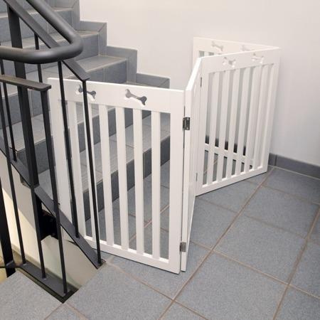 Barierka drewniana 4-częściowa dla psa Trixie biała