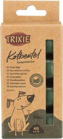 Biodegradowalne torebki do zbierania psich odchodów - 4 rolki po 10 sztuk