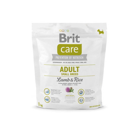 Brit Care New Adult Small Breed Lamb & Rice 1kg