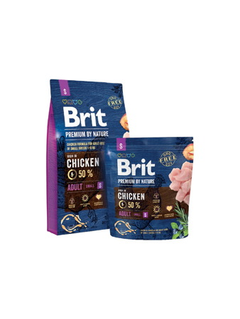 Brit Premium By Nature Adult Small S 1kg