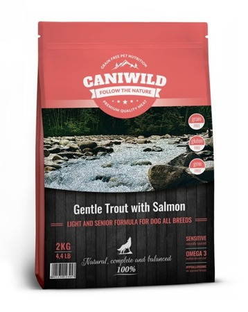 Caniwild Light and Senior Gentle Trout with Salmon