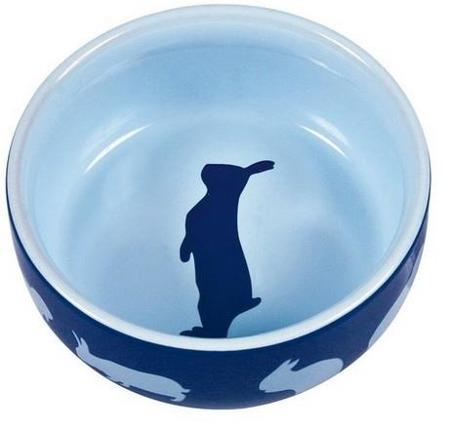 Ceramiczna miseczka dla królika - niebieska - 250 ml
