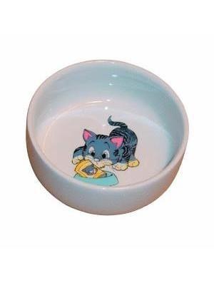 Ceramiczna miska z rysunkiem kota - 11 cm/300 ml