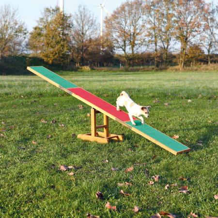 Drewniana huśtawka treningowa dla psów