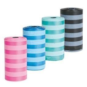 Kolorowe woreczki do zbierania psich odchodów - 4 rolki x 20 sztuk