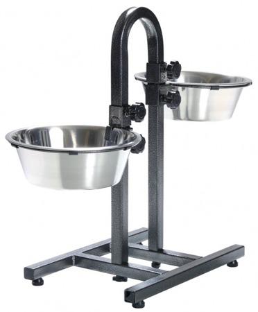 Miski na stojaku regulowanym dla psa Trixie 2x2,8l