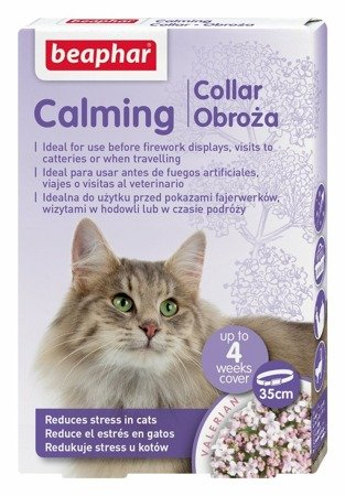 Obroża antystresowa i relaksacyjna dla kota Calming Collar 35 cm