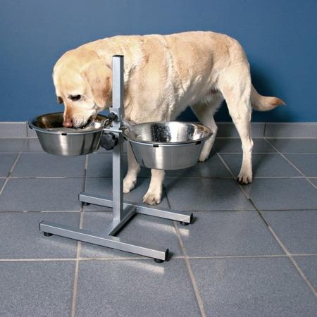 Stojak regulowany z miskami dla psa Trixie 2x1,8l
